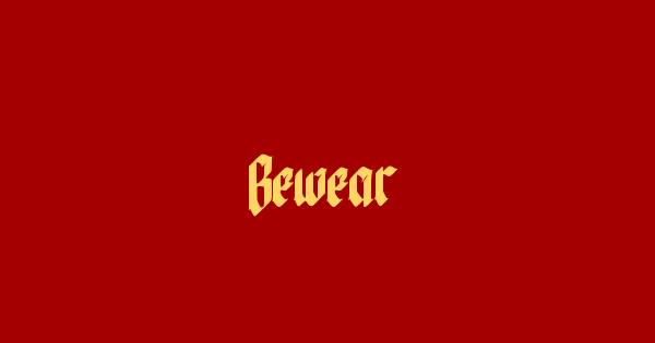 Bewear font thumb