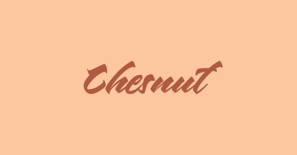 Chesnut font thumb