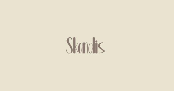 Skandis font thumb
