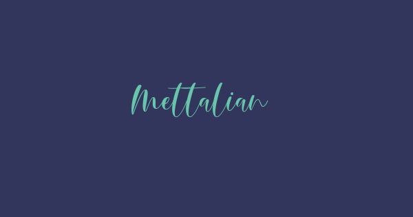 Mettalian font thumbnail