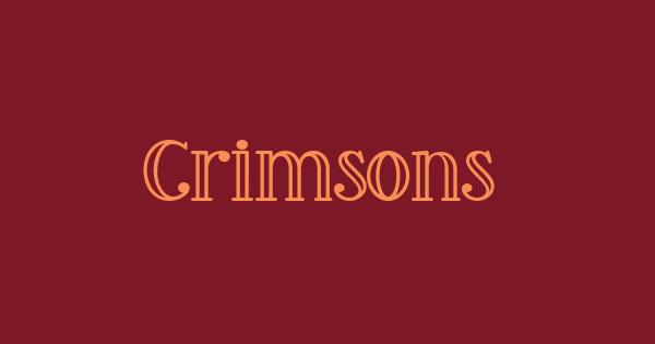 Crimsons font thumb