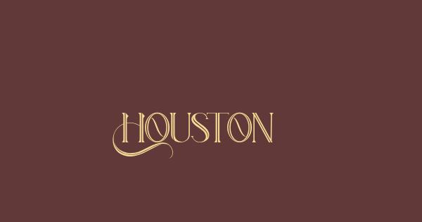 Houston font thumb