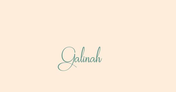 Galinah font thumb