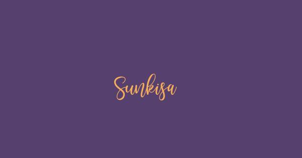 Sunkisa font thumb