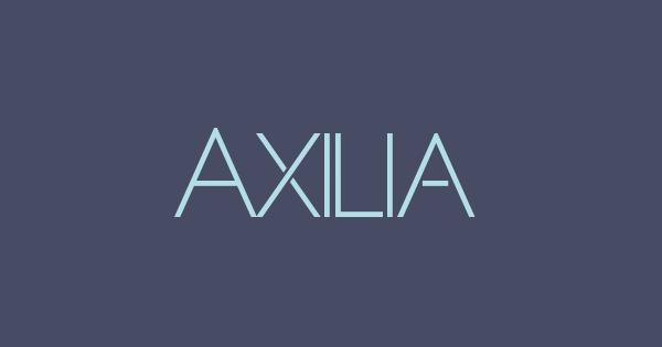 Axilia font thumb