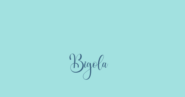 Bigola font thumbnail