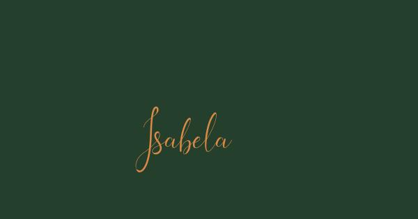 Isabela font thumbnail