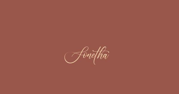 Sonetha font thumbnail