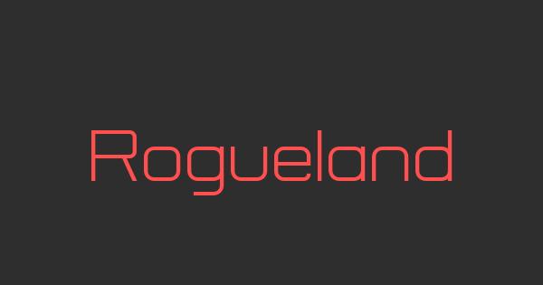 Rogueland font thumbnail