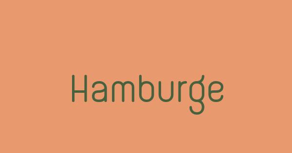 Hamburge font thumb