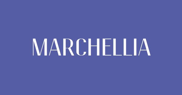 Marchellia font thumb