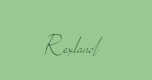 Rexland font thumb