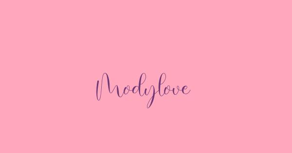 Modylove font thumb