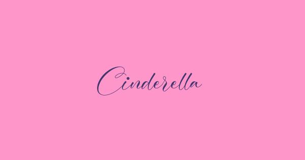 Cinderella font thumbnail