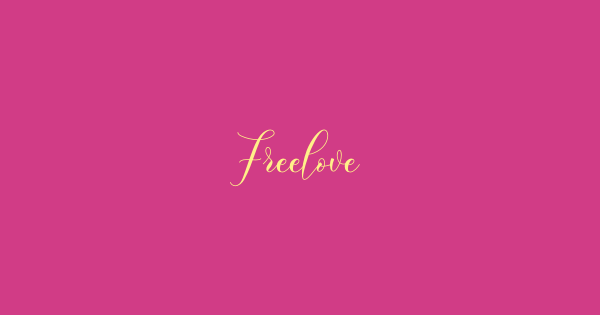 Freelove font thumbnail