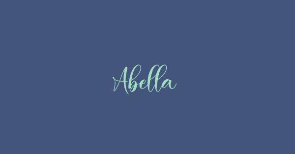 Abella font thumbnail
