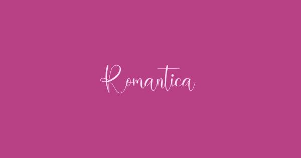Romantica font thumb
