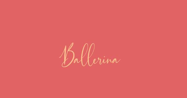 Ballerina font thumb