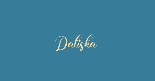Daliska font thumb
