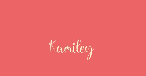 Kamiley font thumb