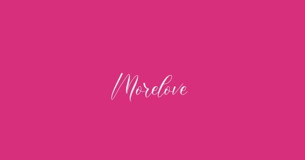Morelove font thumb