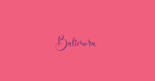 Balimora font thumbnail
