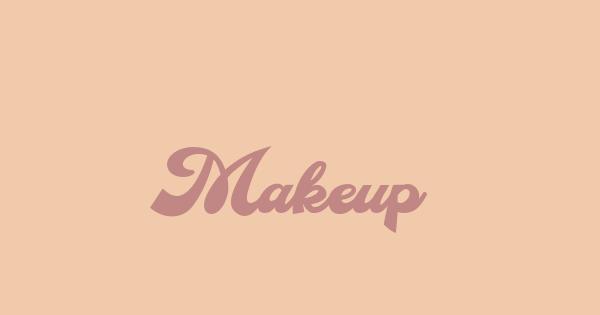Makeup font thumbnail