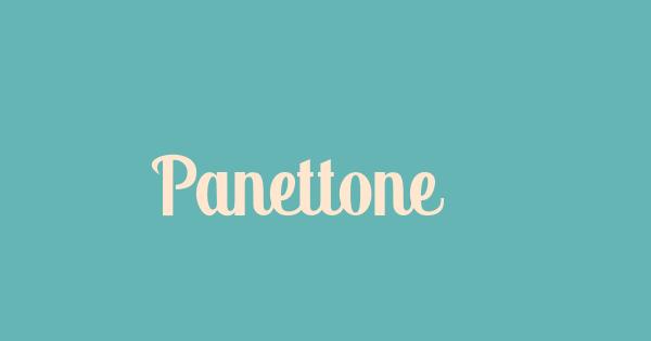 Panettone font thumb