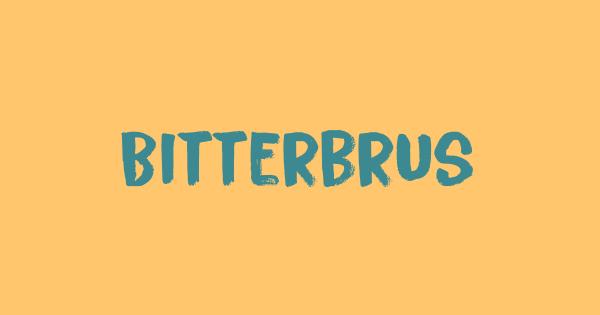 Bitterbrush font thumb