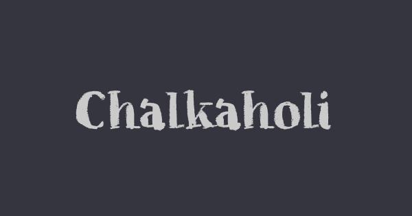 Chalkaholic font thumb