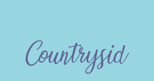 Countryside font thumbnail
