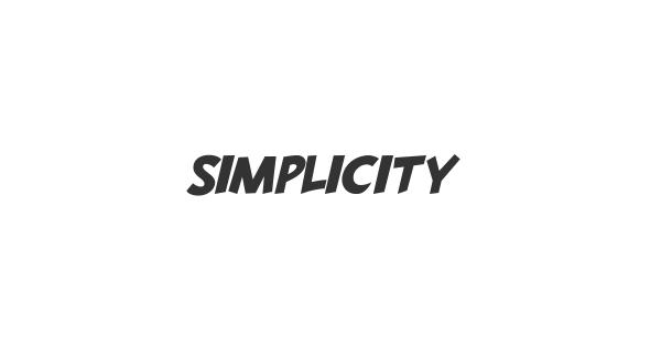 Simplicity font thumb