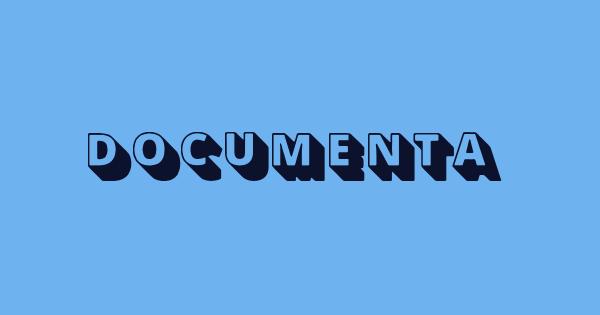 Documenta font thumb