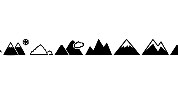 Mountain font thumb