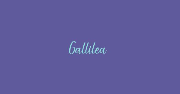 Gallilea font thumb