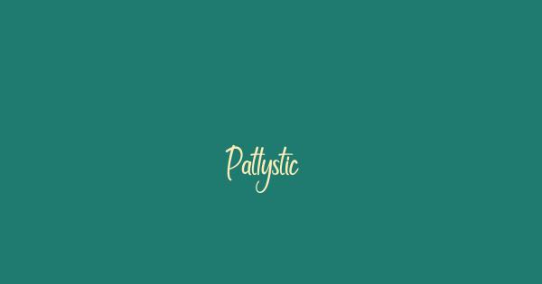 Patlystic font thumb