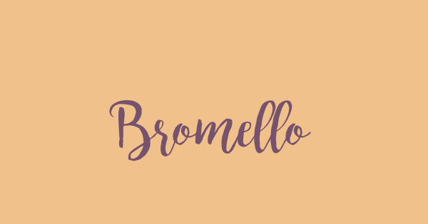 Bromello font thumb