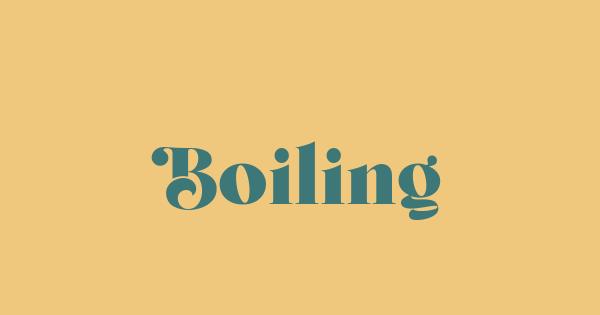Boiling font thumb
