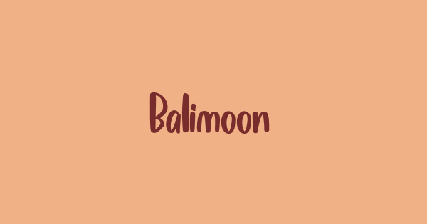 Balimoon font thumb