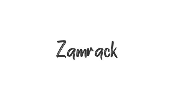 Zamrack font thumb