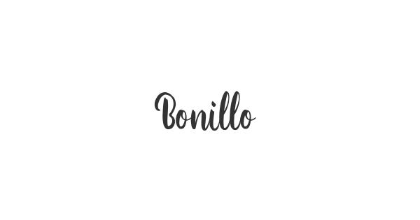 Bonillo font thumb