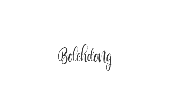 Bolehdong font thumb