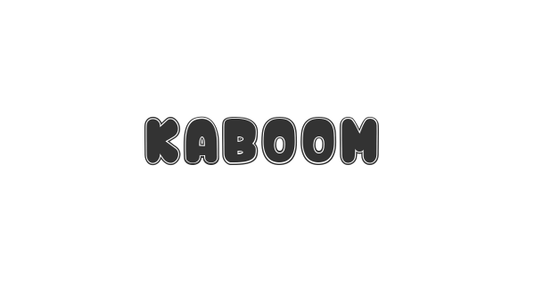Kaboom font thumb