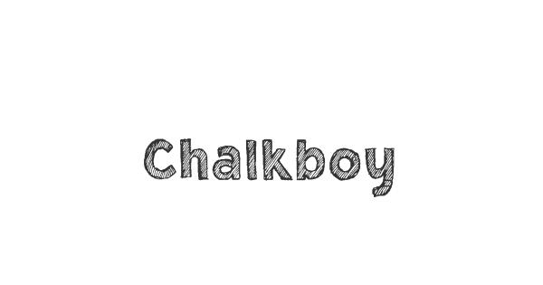 Chalkboy font thumb