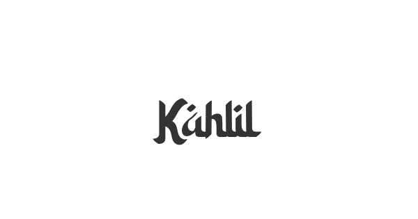 Kahlil font thumb