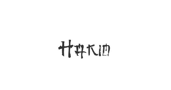 Hakio font thumb