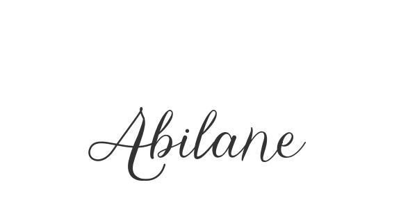 Abilane font thumb