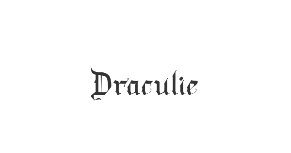 Draculie font thumb