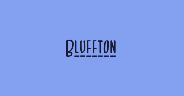 Bluffton font thumb