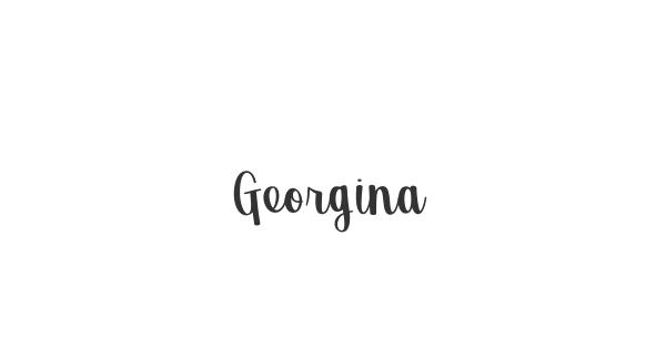 Georgina font thumb
